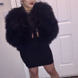 Jackets & Blazers - Faux ostrich coat